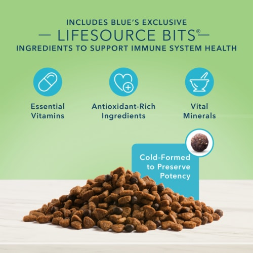 Blue Buffalo True Solutions Perfect Coat Salmon Skin & Coat Care Formula Adult Dry Dog Food Perspective: right