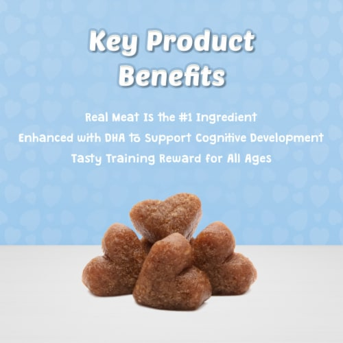 Blue Buffalo Bits Tender Beef Recipe Soft Moist Dog Training Treats Perspective: right