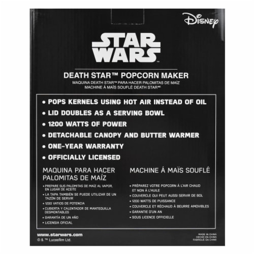 Star Wars Death Star Hot Air Style Popcorn Maker with Removable Bowl Perspective: right