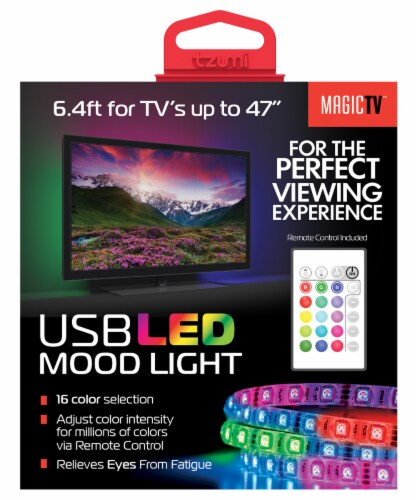 Tzumi MagicTV USB LED Mood Light with Remote Control Perspective: right