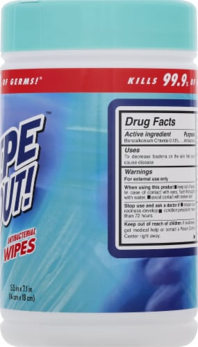 Wipe Out! Antibacterial Fresh Wipes 80 Count Perspective: right