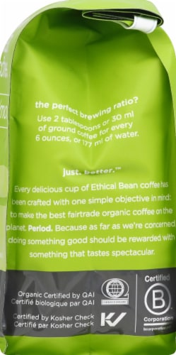 Ethical Bean Coffee Organic Classic Medium Roast Ground Arabica Coffee Perspective: right