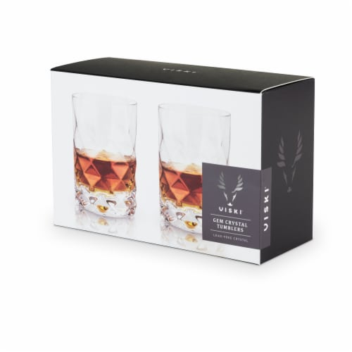 Gem Crystal Tumblers by Viski® Perspective: right