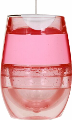 True Fabrications Wine Freeze Cooling Cup Translucent Pink Perspective: right