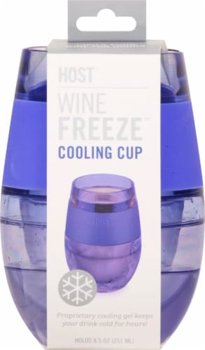 True Fabrications Wine Freeze Cooling Cup Translucent Purple Perspective: right