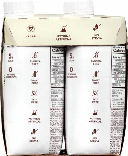 Aloha Organic Coconut Plant-Based Protein Drinks Perspective: right