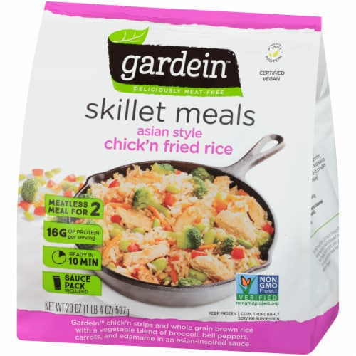 Gardein Skillet Meals Asian Style Meatless Chick'n Fried Rice Perspective: right