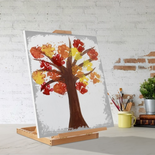 Tabletop H-Frame Beechwood Artist Studio Painting Easel- 7 Elements Perspective: right