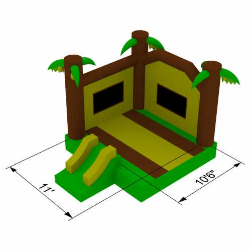 17'x13' Commercial Inflatable Jungle Bounce House w/ Blower by Cloud 9 Perspective: right