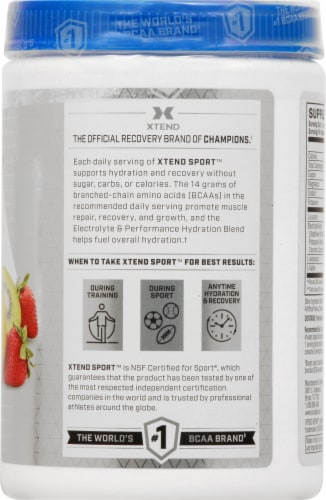Xtend Sport Strawberry Kiwi Splash Dietary Supplement Powder Perspective: right
