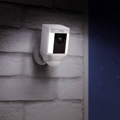 Ring™ Spotlight Battery Camera - White Perspective: right