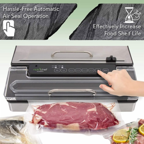 NutriChef PKVS50STS Kitchen Pro Food Electric Vacuum Sealer Preserver System Perspective: right