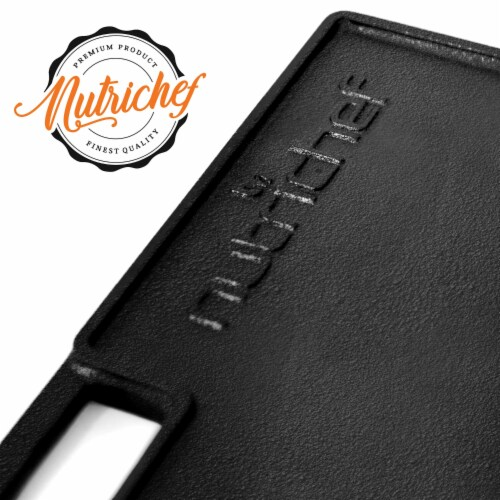 NutriChef NCCIRG59 18-Inch Cast Iron Reversible Grill Plate Perspective: right
