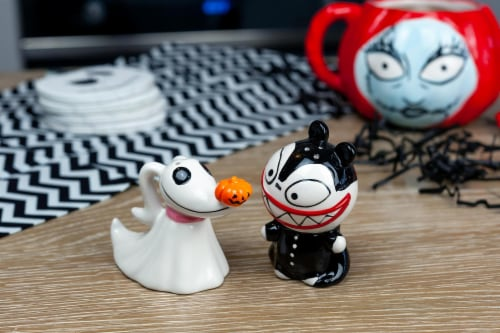 Nightmare Before Christmas Scary Teddy & Zero Ceramic Salt & Pepper Shakers Perspective: right