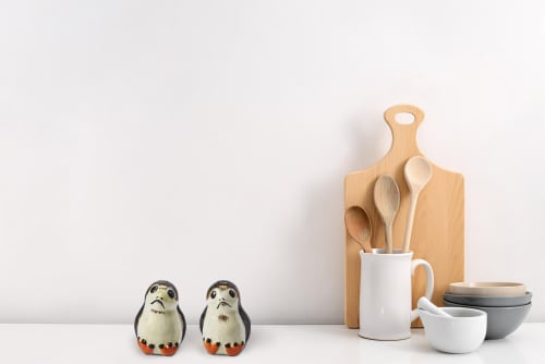 Star Wars Porgs Salt & Pepper Shakers | Official Star Wars Ceramic Spice Shakers Perspective: right