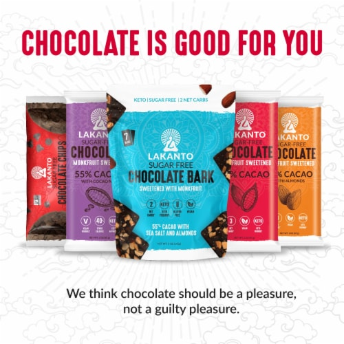 Sugar Free 55% Cacao Chocolate Bar with Cocoa Nibs Perspective: right