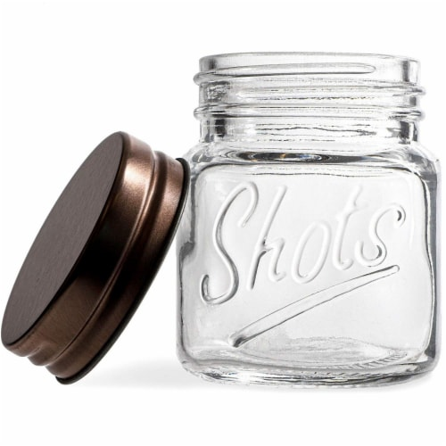 Mini Mason Jars Shot Glasses with Lids in Bulk Set (2 Ounce, 12-Pack) Perspective: right