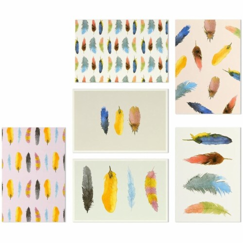 Assorted Thank You Cards Bulk, Blank Greeting Notes with Envelopes (4x6 In, 144 Pack) Perspective: right