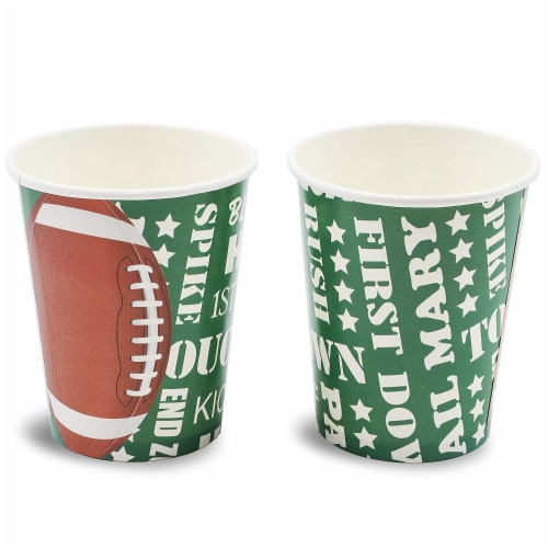 Football Party Bundle Includes Plates, Napkins, Cups, and Cutlery (Serves 24, 144 Pieces) Perspective: right