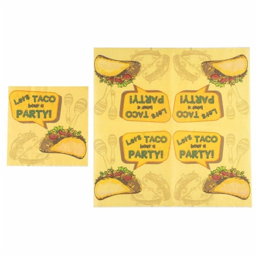 Taco Party Bundle, Includes Plates, Napkins, Cups, and Cutlery (24 Guests,144 Pieces) Perspective: right