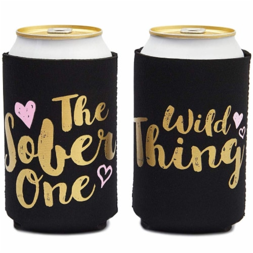 Bachelorette Can Sleeves for Cold Drinks, Party Favors (12 Designs, 12 Pack) Perspective: right