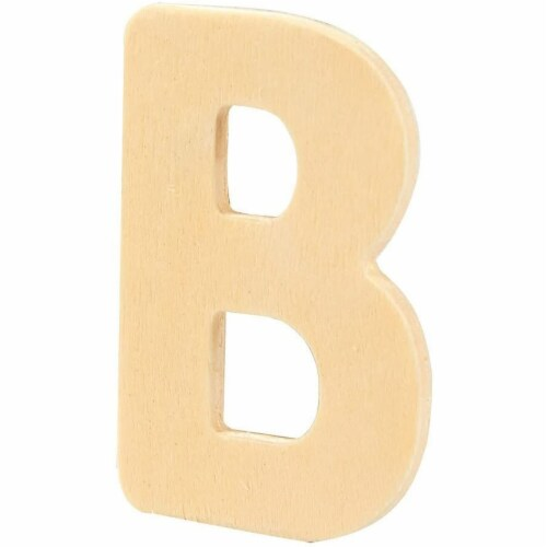 104 Piece Set Wooden Letters with Storage Tray - 4 Piece Each Letter, Natural Perspective: right