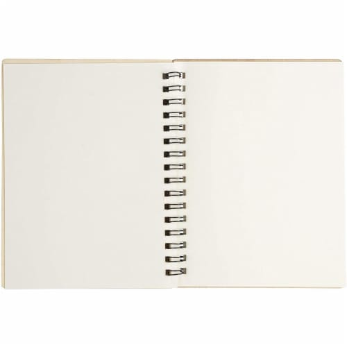 Wooden Cover Spiral Journal Notebooks, 20 Sheets Each (4.5 x 5.8 In, 4 Pack) Perspective: right