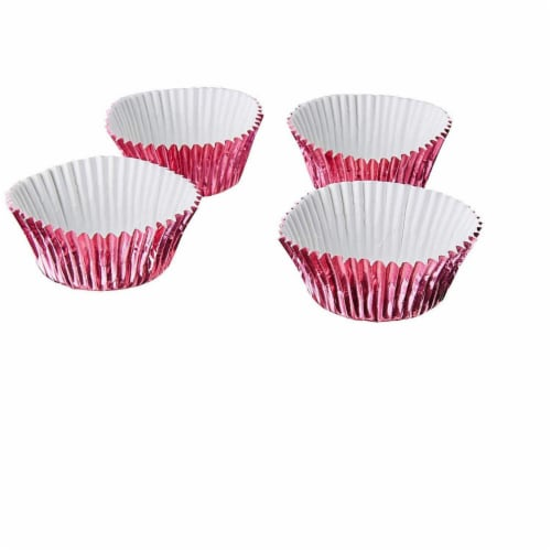 Pink Foil Cupcake Liners, Baking Cups (2 x 1 In, 200-Pack) Perspective: right