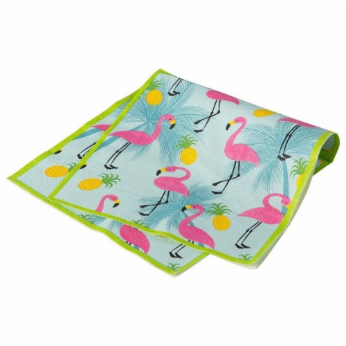Flamingo Party Bundle Includes Plates, Napkins, Cups, and Cutlery (Serves 24,144 Pieces) Perspective: right