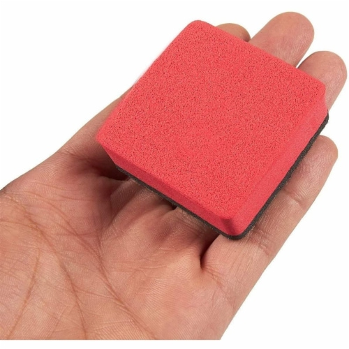 Mini Whiteboard Erasers for Classroom Supplies (4 Colors, 24 Pack) Perspective: right