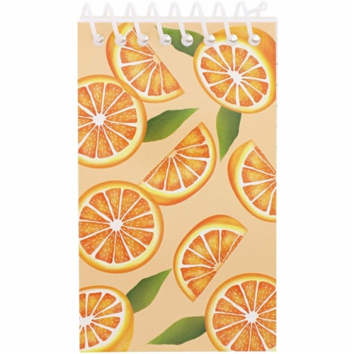 Juvale Mini Spiral Notebooks with 4 Fruit Designs (3 x 5 Inches, 24-Pack) Perspective: right