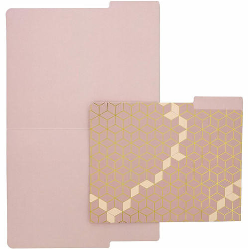 Geometric Decorative File Folders with 1/3 Cut Tab (11.5 x 9.5 In, 12 Pack) Perspective: right