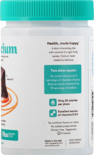MyBite Vitamins Calcium Dietary Supplement Perspective: right