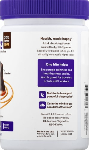 MyBite Vitamins Sweet Zzzz Melatonin Dietary Supplement Perspective: right