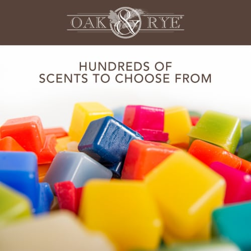 Oak & Rye® Sparkling Lime & Citrus Scented Wax Cubes Perspective: right