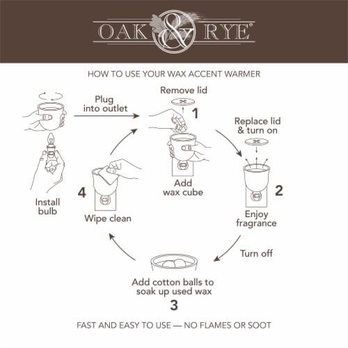 Oak & Rye Corona De Flores Mini Warmer Perspective: right