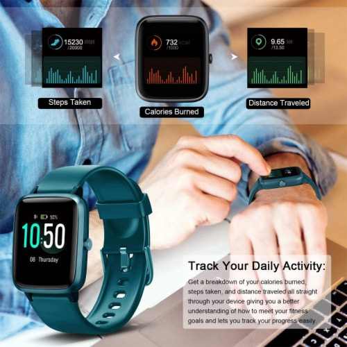 Letsfit ID205L Smartwatch Heart Rate & Activity Monitor - Green Perspective: right