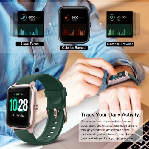 Letsfit ID205L Smartwatch Heart Rate & Activity Monitor - Emerald Perspective: right