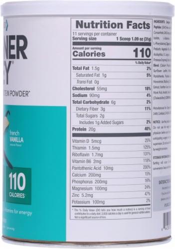 Designer Whey French Vanilla Protein Powder Perspective: right