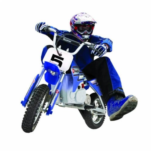 Razor MX350 Dirt Rocket 24V Electric Toy Motocross Blue Motorcycle Dirt Bike Perspective: right