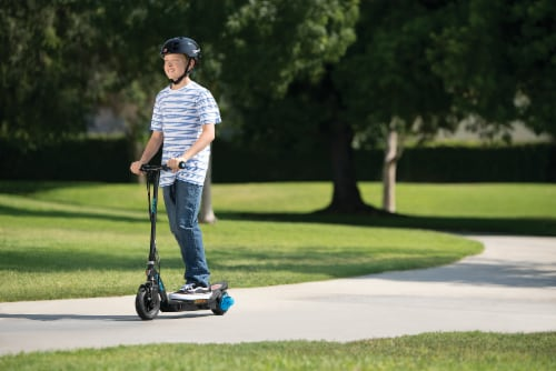 Razor Power Core E100 Kids Ride On Motorized Electric Powered Scooter Toy, Blue Perspective: right