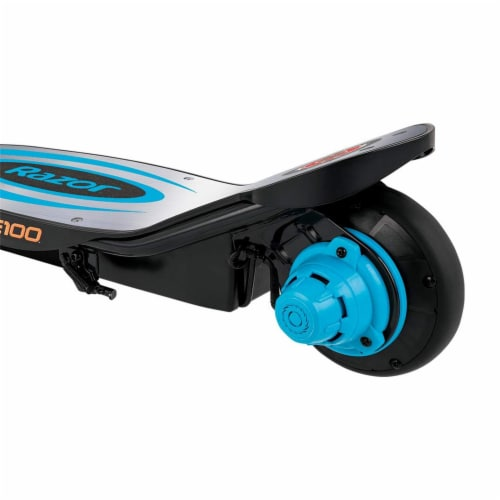 Razor Power Core E100 Kids Motorized Electric Powered Kick Start Scooter, Blue Perspective: right