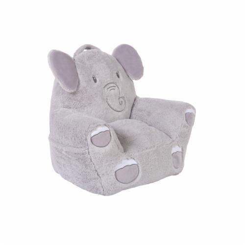 Cuddo Buddies Gray Elephant Plush Chair Perspective: right