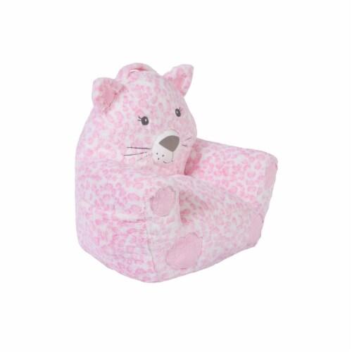 Cuddo Buddies Pink Leopard Plush Chair Perspective: right