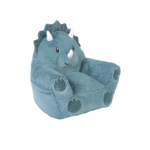 Cuddo Buddies Teal Dinosaur Plush Chair Perspective: right