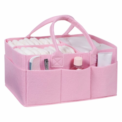 Sammy & Lou Pink Felt Caddy & Tote Set Perspective: right
