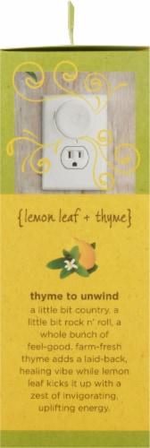 Enviroscent Plug Hub Lemon Leaf and Thyme Scent Pod Warmer Kit Perspective: right
