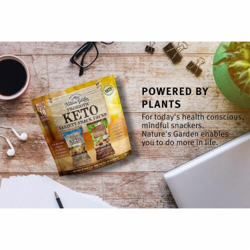 Nature's Garden Probiotic Keto Variety Snack Packs 1 oz (Pack of 18) Perspective: right