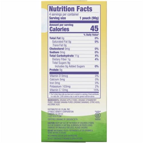 Plum® Organics Mashups® Strawberry & Banana Applesauce Perspective: right