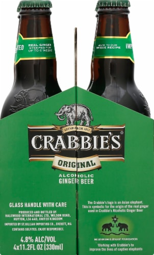 Crabbie's Original Alcoholic Ginger Beer Perspective: right